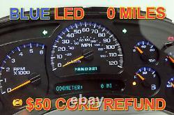03-04 2003-2004 REBUILT & PROGRAMMED TRUCK DASH CLUSTER WITH BLUE LEDs UPGRADE