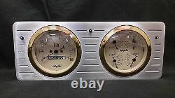 1940 1941 1942 1943 1944 1945 1946 1947 Ford Truck Quad Gauge Dash Cluster Gold