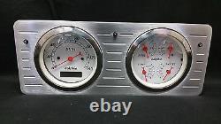1940 1941 1942 1943 1944 1945 1946 1947 Ford Truck Quad Gauge Dash Cluster White