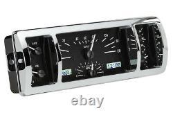 1940-46 Chevrolet Chevy Truck Dakota Digital Black Alloy / White VHX Gauge Kit