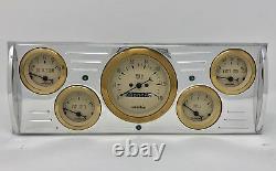 1941 1942 1943 1944 1945 1946 Chevy Truck 5 Gauge Dash Cluster Gold