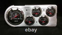 1948 1949 1950 Ford Truck 5 Gauge Dash Cluster Black