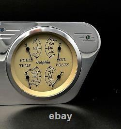 1953 1954 1955 Ford Truck 5 2 Gauge Quad Dash Panel Insert Cluster Set Tan