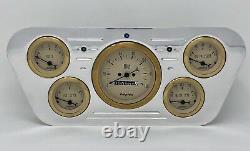 1953 1954 1955 Ford Truck 5 Gauge Billet Dash Cluster Set insert Gold