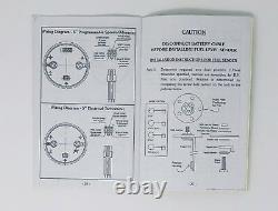 1953 1954 1955 Ford Truck 5 Gauge GPS Dash Cluster Set insert White