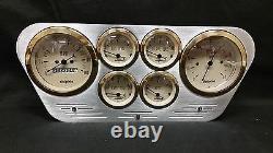 1953 1954 1955 Ford Truck 6 Gauged Dash Panel Cluster Set Billet Insert Gold