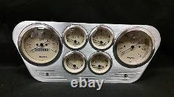 1953 1954 1955 Ford Truck 6 Gauged Dash Panel Cluster Set Billet Insert Tan