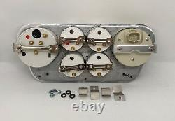 1953 1954 1955 Ford Truck 6 Gauged Dash Panel Cluster Set Billet Insert White