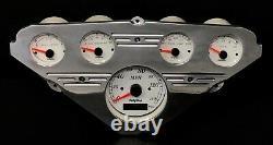 1955 1956 1957 1958 1959 Chevy Truck 5 Gauge GPS Dash Cluster Rear Mount White
