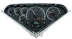 1955 -59 Chevy GMC Truck Black Alloy Dakota Digital HDX Customizable Gauge Kit