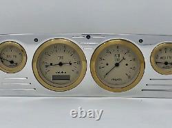 1957 1958 1959 1960 Ford Truck 6 Gauge Dash Cluster Gold