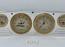 1957 1958 1959 1960 Ford Truck 6 Gauge Dash Cluster Gold mec