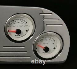 1957 1958 1959 1960 Ford Truck 6 Gauge GPS Dash Cluster White