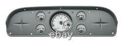 1957-60 Ford F100 Truck Pickup Dakota Digital Silver Alloy & White VHX Gauge Kit