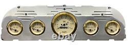1960 1961 1962 1963 Chevy Truck 5 Gauge Dash Panel Insert Cluster Set Gold