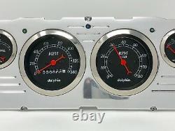 1960 1961 1962 1963 Chevy Truck 6 Gauge Dash Panel Insert Cluster Set Black