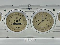1960 1961 1962 1963 Chevy Truck 6 Gauge Dash Panel Insert Cluster Set Tan