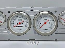 1960 1961 1962 1963 Chevy Truck 6 Gauge Dash Panel Insert Cluster Set White