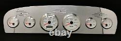 1961 1962 1963 1964 1965 1966 Ford Truck 6 Gauge GPS Dash Cluster White