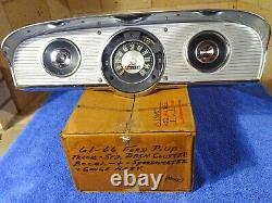 1961-1966 Ford Truck Dash Cluster Chrome Bezel Speedometer & Gauge Assembly NICE