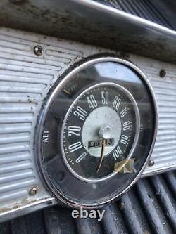 1961-1966 Ford Truck Gauges Speedometer Oil Pressure Chrome Housing Bronco