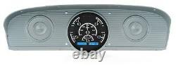 1961-66 Ford F100 Truck Pickup Dakota Digital Black Alloy & Blue VHX Gauge Kit