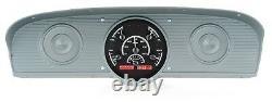 1961-66 Ford F100 Truck Pickup Dakota Digital Black Alloy & Red VHX Gauge Kit
