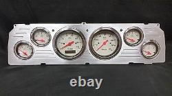 1964 1965 1966 Chevy Truck 6 Gauge Dash Cluster Shark