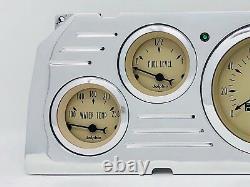 1964 1965 1966 Chevy Truck 6 Gauge Dash Panel Insert Cluster Tan