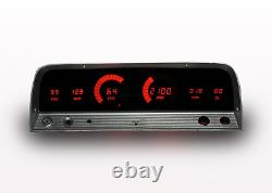 1964-1966 Chevy Truck Digital Dash Panel Cluster Gauges Red LEDs Made In The USA