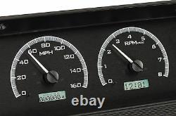 1964-66 Chevy C10 K10 Truck Black Alloy & White Dakota Digital VHX Gauge Kit