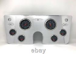 1967 1968 1969 1970 1971 1972 Chevy Truck 6 Gauge Dash Panel Cluster Black 3 3/8