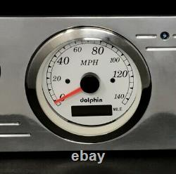 1967 1968 1969 1970 1971 1972 Ford Truck 6 Gauge GPS Dash Cluster White