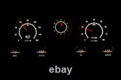 1967-72 Chevy Truck C10 Dakota Digital Retrotech RTX Black Alloy Dash Gauge Kit
