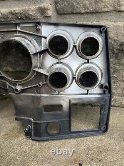 1973-1983 Chevrolet Dash Gauge Bezel NOS Black/Chrome part# 347220