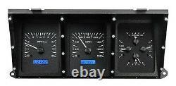 1973-79 Ford F100 Truck Pickup Dakota Digital Black Alloy & Blue VHX Gauge Kit
