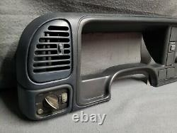 1995-up Silverado Sierra BLUE Dash Bezel with Vents, Cargo & Headlight Switches