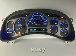 2006 Denali Sierra Silverado Speedometer Gauge Cluster BLUE LED REBUILT