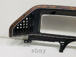 4 Part FORD F150 BRONCO XLT LARIAT WOODGRAIN DASH INSTRUMENT CLUSTER BEZEL 88-91