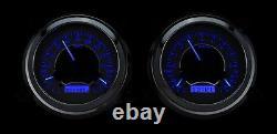 47-53 Chevy GMC Truck Silver Alloy & Blue Dakota Digital VHX Analog Gauge Kit