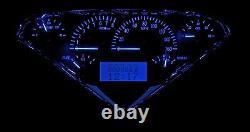 55-59 Chevy GMC Truck Carbon Fiber & Blue Dakota Digital VHX Analog Gauge Kit