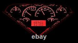55-59 Chevy GMC Truck Carbon Fiber & Red Dakota Digital VHX Analog Gauge Kit