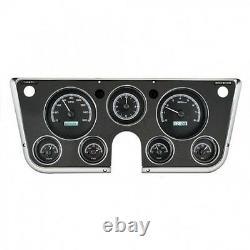 67-72 Chevy Truck C10 Dakota Digital Black & White VHX Analog Clock Gauge Kit