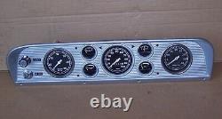67 72 Ford F100 F250 Truck Custom Dash Cluster Round Gauges Tach Vacuum 68 69 70