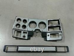 73-80 chevy GMC NEW pickup truck dash bezel gauge cluster cover brushed aluminum