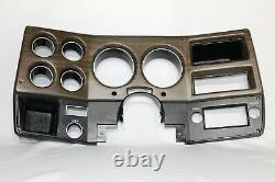 75-80 NEW Woodgrain Chevy GMC pickup truck dash bezel gauge cluster cover witho AC