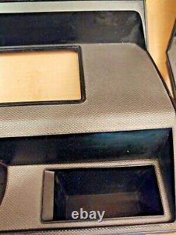 80-86 Gauge Cluster & Radio Bezel Trim Silver/Gray Ford F150 F250 F350 Bronco
