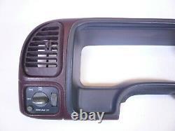 95-98 Gmc Chevy Silverado Suburban Speedo Dash Cluster Surround Trim Bezel Red