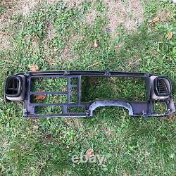 95-99 CHEVY GMC TRUCK SILVERADO C/K Cluster Gauge Speedo Dash Bezel Tan withWood