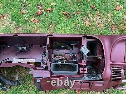 95-99 Chevy GMC Trucks DASHBOARD DASH CORE FRAME MOUNT with 1 Crack Maroon RED